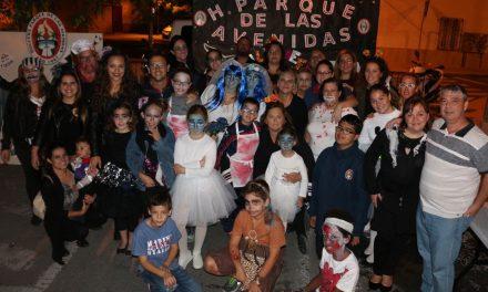 La hoguera Parque de las Avenidas celebra la noche de Halloween