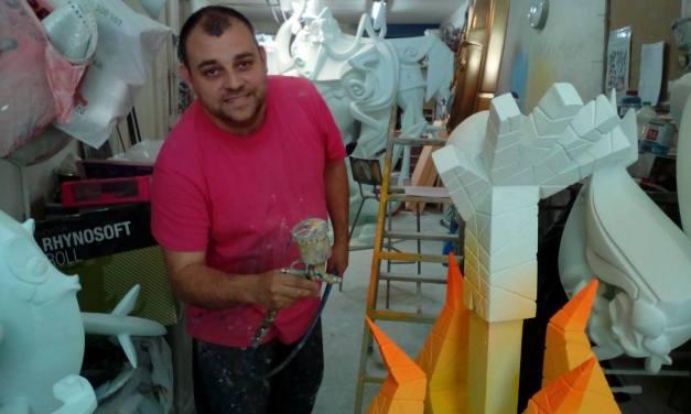 Sergio Gómez, artista de la foguera oficial infantil 2019